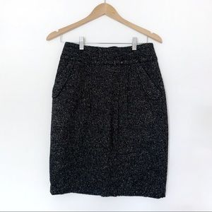 CAbi 738 Blair Tweed wool blend pencil skirt